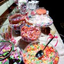 a table of candy
