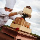 Cake at Outdoor Wedding
