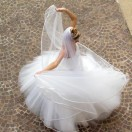 Bride Spinning in the Courtyard